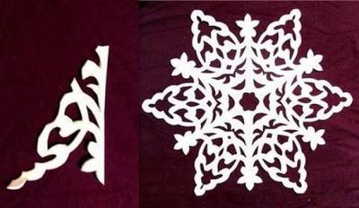 Рукодельные снежинки, как верно ложить и вырезать