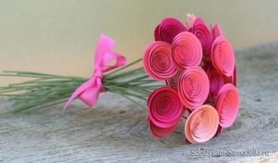 Бумажные цветочки своими руками