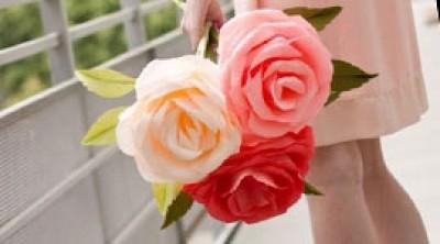 Взрослые цветочки из бумаги