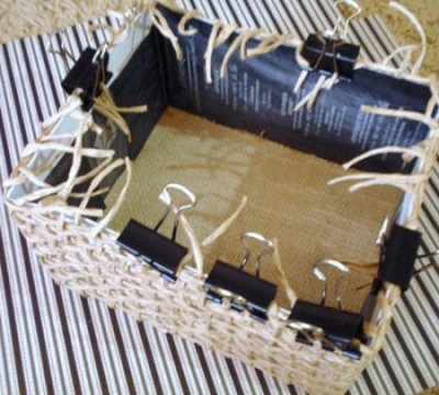 Плетеная плетенка из бумаги