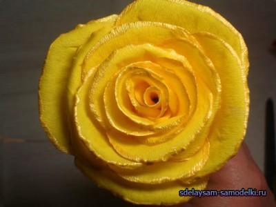 Как сделать розу из гофрированной бумаги