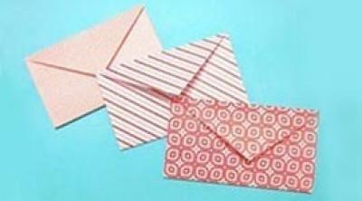 Как сделать конверт. Прекрасный конверт из бумаги