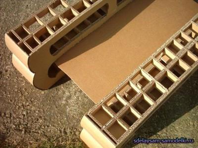 Мастер класс как создается мебель из картона
