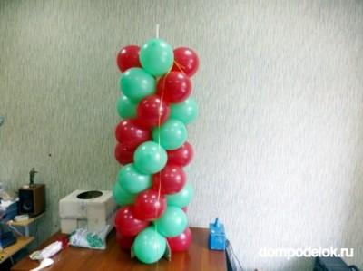 Столбик из воздушных шаров