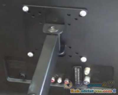 Как повесить телевизор на стену?Установка кронштейна. Видео