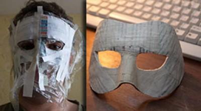 Как сделать маску из бумаги. Мастер класс Папье маше видео