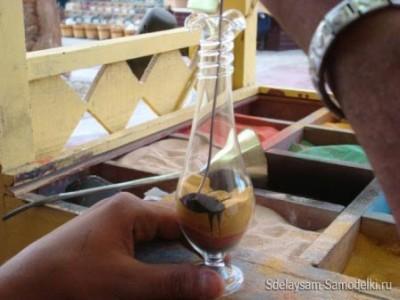 Картинки цветным песком в бутылке. Мастер класс видео