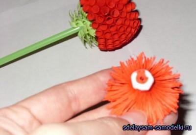 Совершенные цветочки из бумаги. Фальшивка цветок родными руками