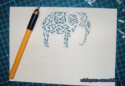 Слоник из бумаги