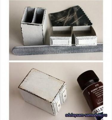 Тумбочка из спичечных коробков
