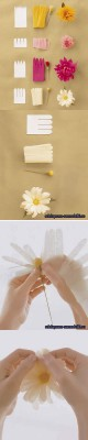 Весенние цветочки из бумаги