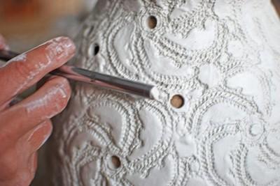 Плафон своими руками из полимерной глины