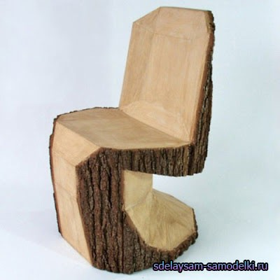 Садовая лавочка своими руками / скамейки из бревен фото