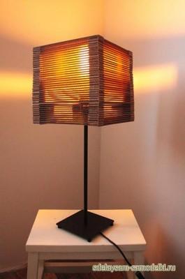 Как сделать светильник из картона