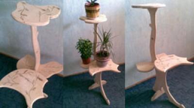 Цветочница деревянная
