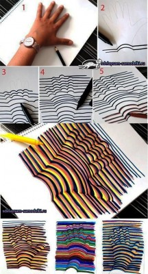 Как нарисовать 3d рисунок на бумаге