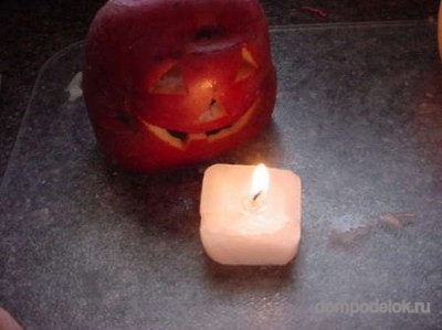 Фонарь из кортошки на Хэллоуин