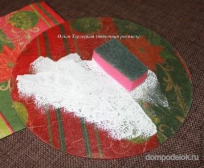 Новогодняя тарелка
