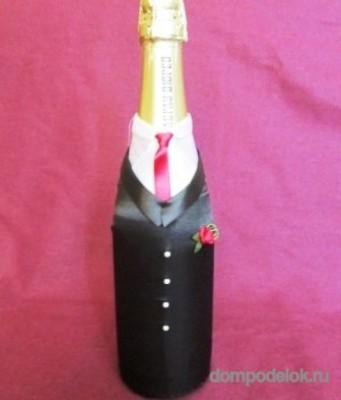 """Декор бутылок """"Жених и жена"""""""