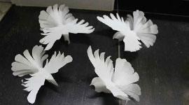 Белоснежные голуби из бумаги своими руками