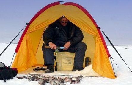 Как сделать палатку для зимней рыбалки своими руками?