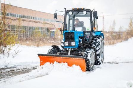 Особенности снегоуборочного трактора.